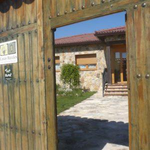 La Galiana. Exterior, portón de acceso